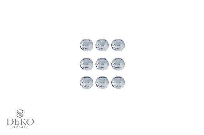 Plastik-Strasssteine in kristall, Durchmesser 3 mm, selbstklebend