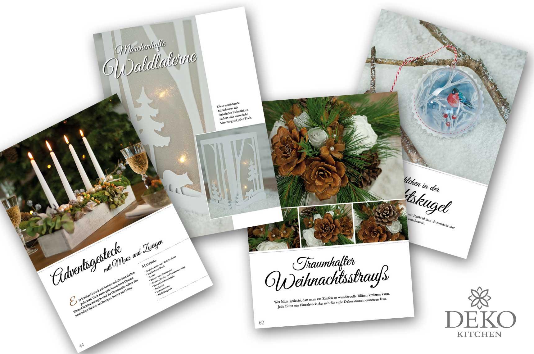 Weihnachtsdeko Katalog.Wunderschöne Weihnachtsdeko Zum Selbermachen Deko Kitchen Shop