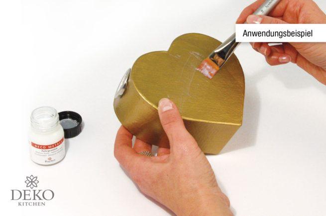 Anwendung: Deco-Metall 5 Blatt gold