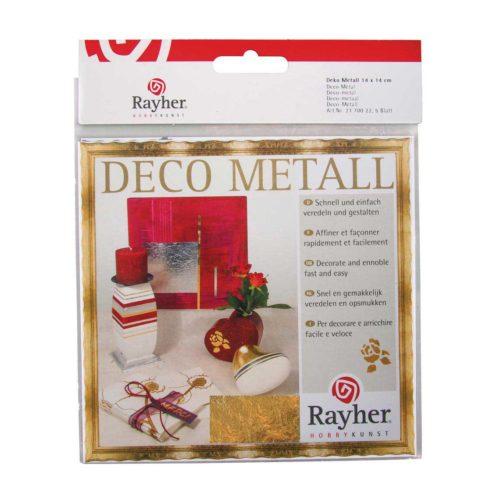 Deco-Metall gold, 5 Blatt 14 x 14 cm