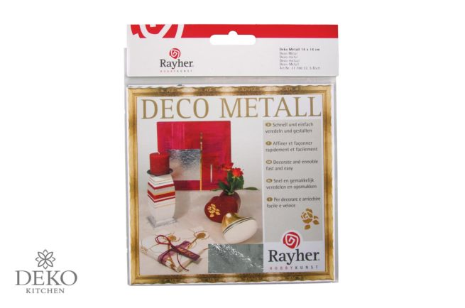 Deco-Metall silber 5 Blatt 14x14 cm