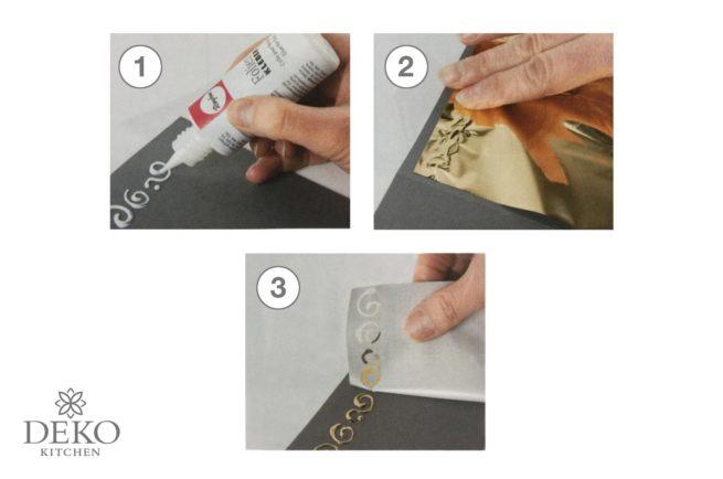 Spiegel-Effekt-Folie mit Folienkleber verwenden