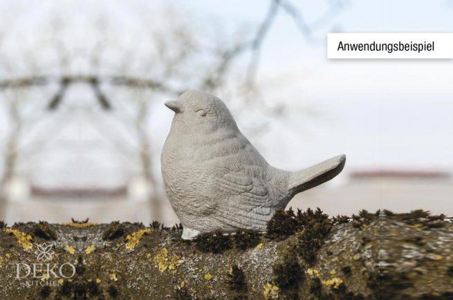 Anwendungsbeispiel: Latex-Gießform Vogel 10 cm