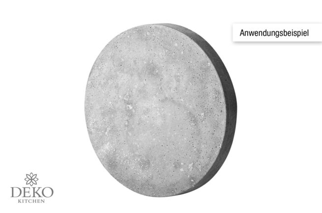 Anwendungsbeispiel: Gießform Kreis 28 cm