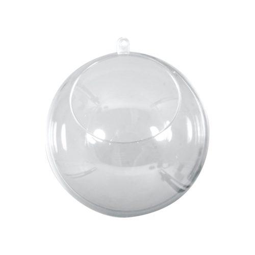 Plastik-Kugel mit Ausschnitt, 8 cm Durchmesser