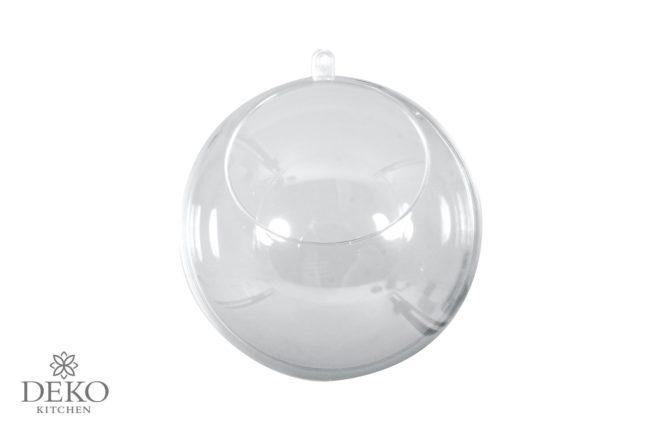 Plastik-Kugel mit Ausschnitt, 10 cm Durchmesser