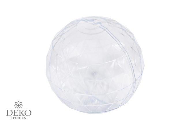 Plastik-Kugel facettiert, 8 cm Durchmesser
