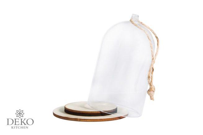 Deko-Haube aus Kunststoff mit 6 cm Durchmesser und 9 cm Höhe