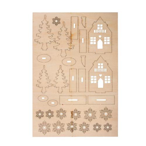 Holz-Bausatz: Winterhäuser