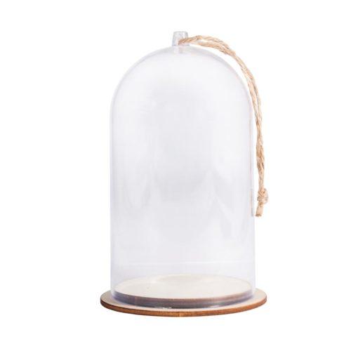 Deko-Haube aus Kunststoff mit 6 cm Durchmesser und 13 cm Höhe