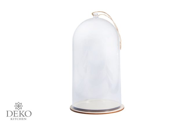 Deko-Haube aus Kunststoff mit 6 cm Durchmesser und 19 cm Höhe