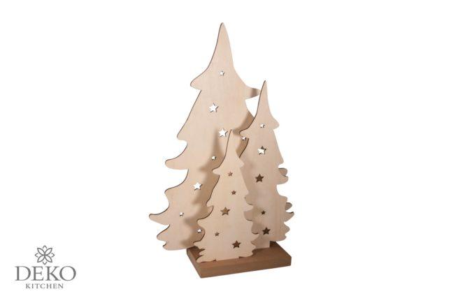 Holz-Steckset : Deko-Tannenbäume