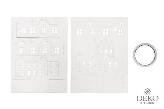Papier-Bausatz: Lichterdorf