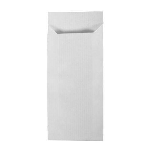 Falt-Papiertüten weiß, 7 x 24 cm, 20 Stk,