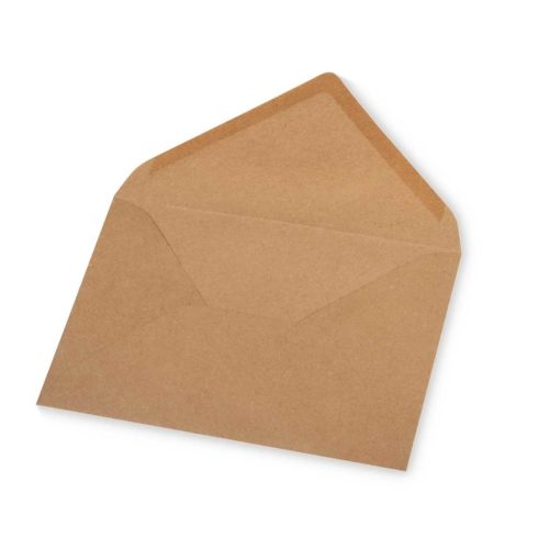 Kuvert B6 aus Kraftpapier 5 Stk.