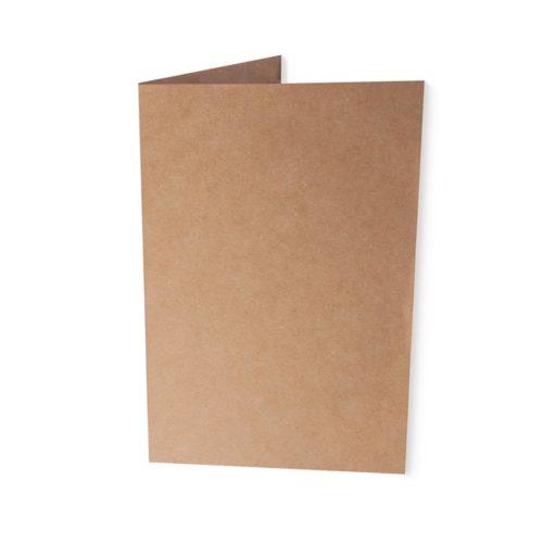 B6 Kraftpapier-Klappkarte 220g/qm