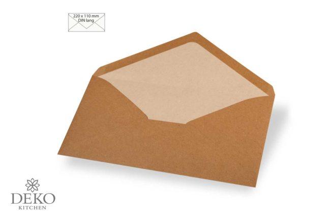 Kuvert DINlang aus Kraftpapier 5 Stück
