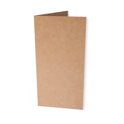 Kraftpapier Klappkarte DINlang 220 g/qm