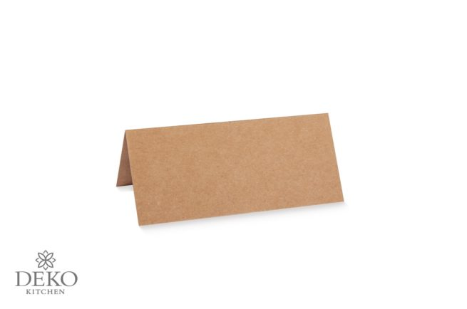 Tischkarte aus Kraftpapier doppelt