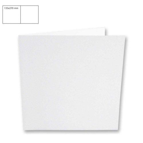 Klappkarte quadratisch 135x135 mm, weiß, 5 Stück