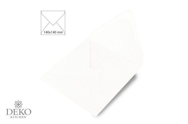 Kuvert quadratisch weiß 140x140 mm
