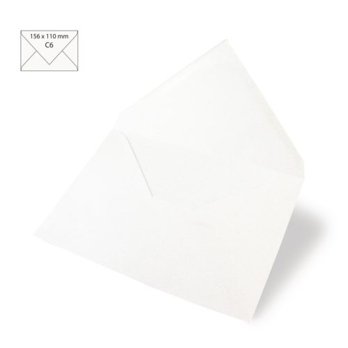 Kuvert C6 weiß, 5 Stk.