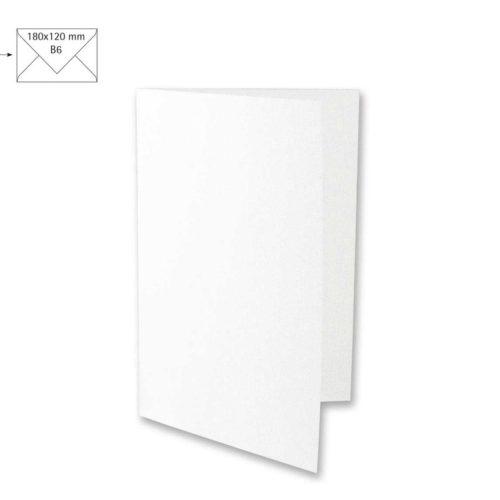 Klappkarte B6 weiß, 220 g/qm, 5 Stück