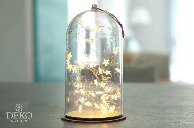 Micro-LED-String Lichterkette mit Sternen, Länge 2 m