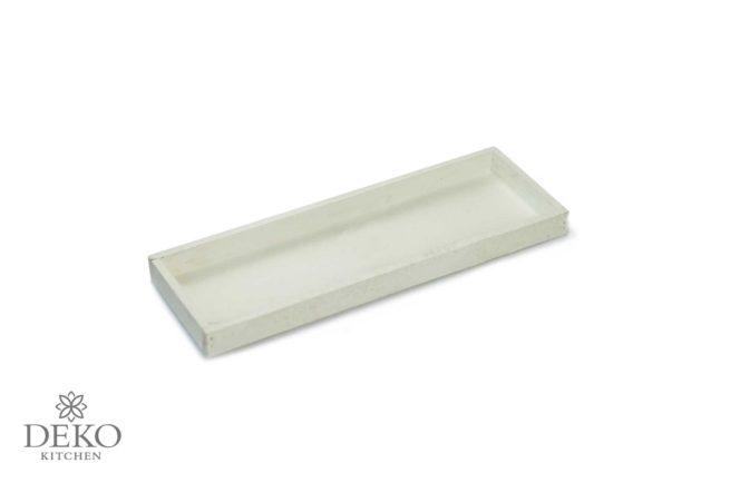 Holztablett rechteckig weiß 42 x 14 cm
