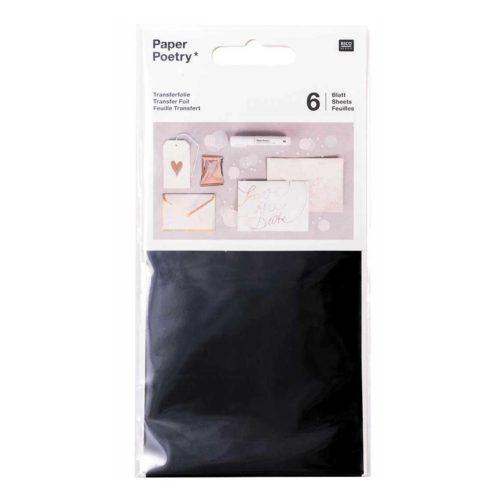 Transferfolie 9x15 cm, 6 Blatt, schwarz