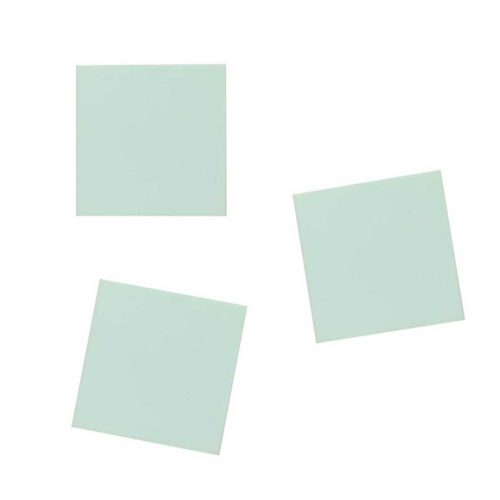 Stempelgummi quadratisch 4 x 4 cm, 3 Stk.