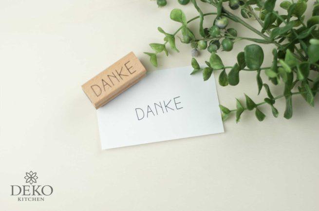 Holz-Stempel Danke 5 x 2 cm