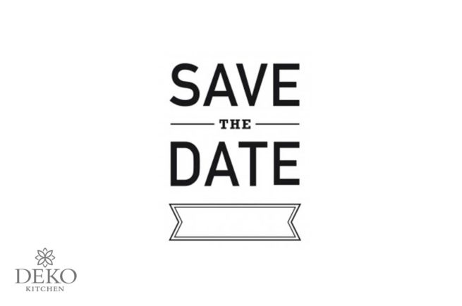 Holz-Stempel Save the Date 4 x 6 cm