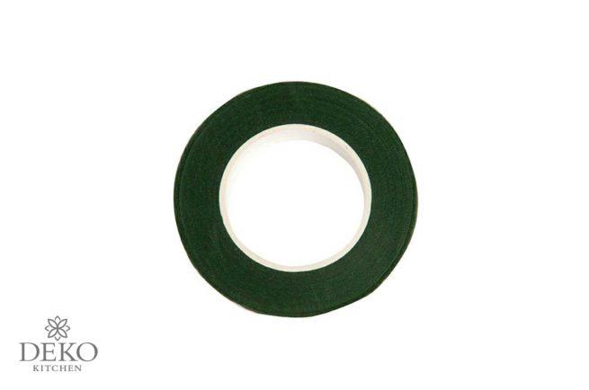 Kreppwickelband dunkelgrün, 12 mm x 275 cm
