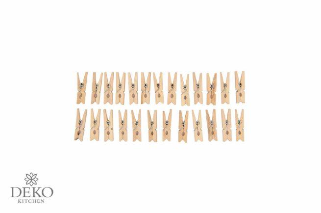 Miniklammern aus Holz, natur, 3 cm, 25 Stk.