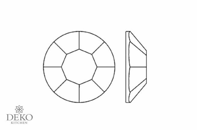 Schmucksteine Acryl facettiert, kristall, 10 mm Durchmesser, 100 Stk.