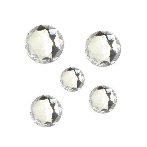 Schmucksteine Acryl facettiert kristall Set 10-25 mm