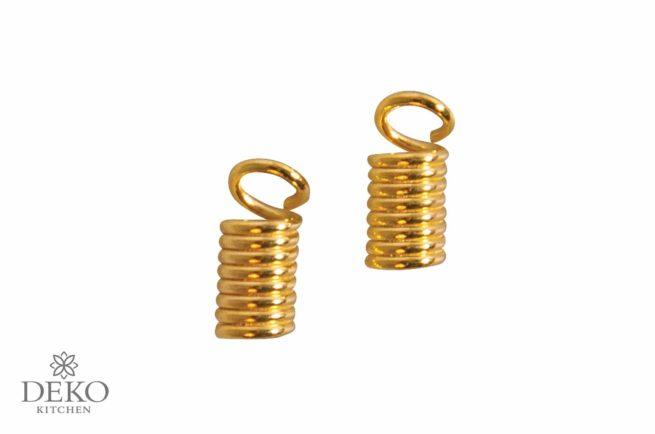 Verbinder für Lederriemen 2 mm gold