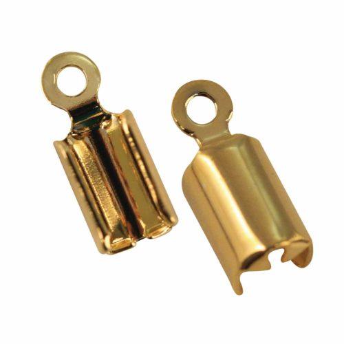 Verbindung für Schmuckschnüre gold