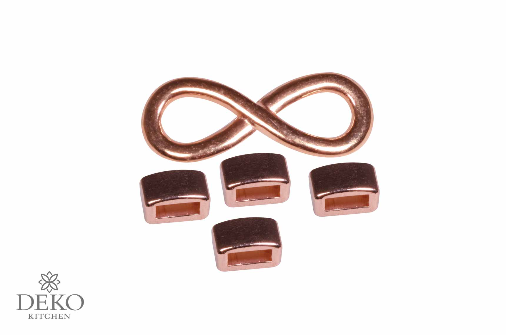 Schmuck zierelement infinity aus metall ros gold deko for Rosegold deko