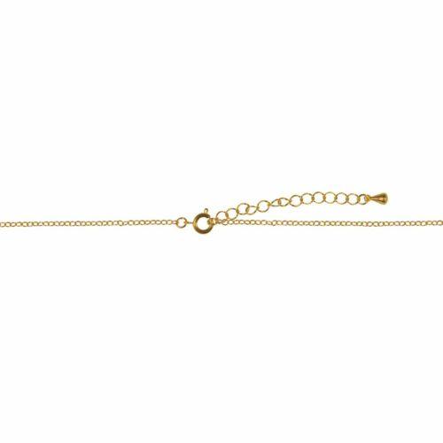Metall-Gliederkette mit Verschluss 78 + 5 cm, gold