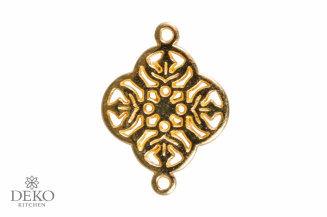 """Schmuck-Zierelement """"Ornament-Blume"""" gold"""