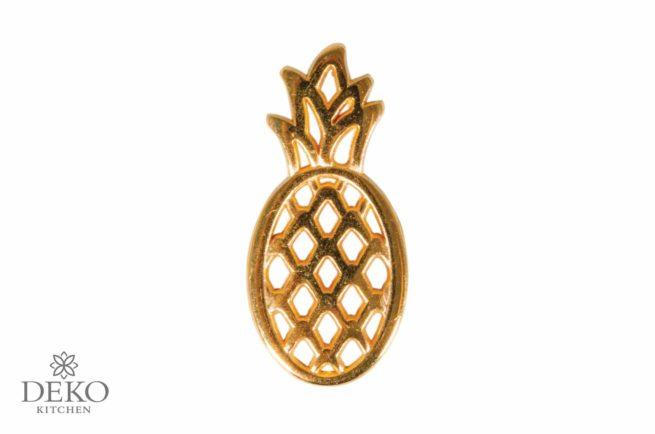 Schmuck-Anhänger Ananas aus Metall, gold