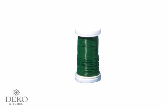 Blumendraht 0,35 mm, 100 m dunkelgrün