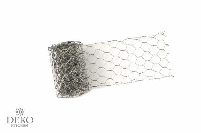 Deko-Hasendraht 10 cm breit, 245 cm lang, platin
