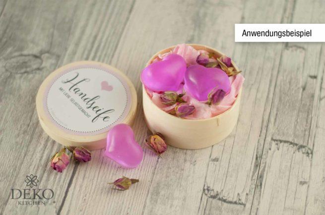 Seifen-Blüten ganze Rosenknospen rosa 7g