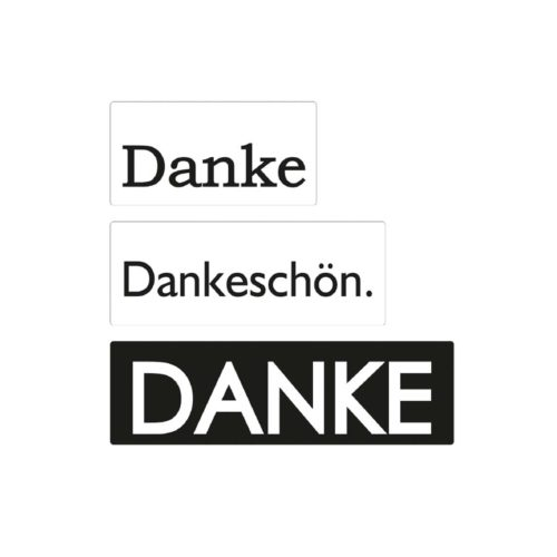 "Seifen-Labels ""Danke"" 3-teilig"