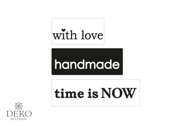 "Seifen-Labels ""love/handmade/time is now"" 3-teilig"