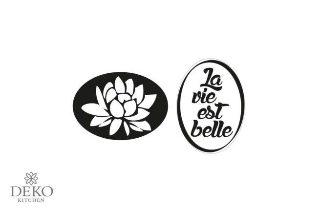 """Seifen-Labels """"Seerose / La vie es belle"""" 2-teilig"""