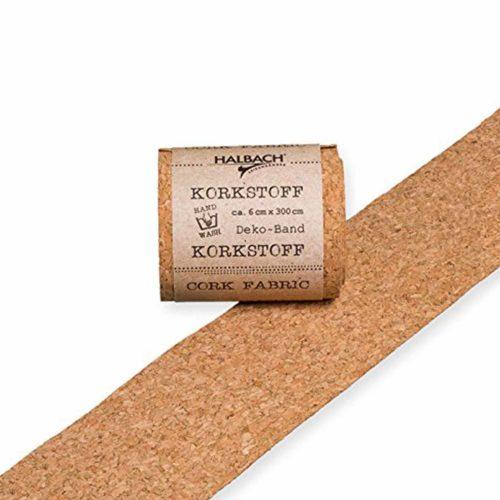 Korkstoff Deko-Band 6 cm x 3 m granulo